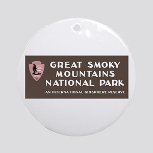 Great Smoky Mountains National Park Round Ornament