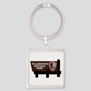 Yellowstone National Park, WY Square Keychain