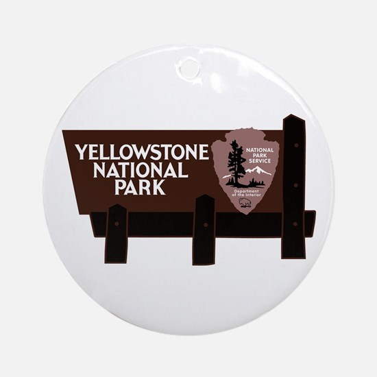 Yellowstone National Park, WY Round Ornament