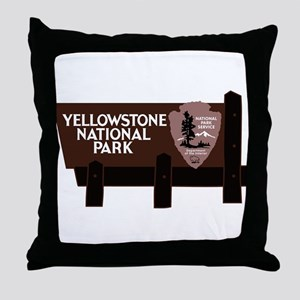 Yellowstone National Park, WY Throw Pillow