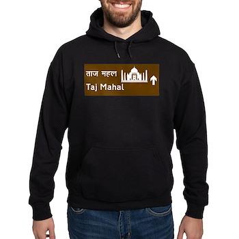 Taj Mahal, India Hoodie (dark)