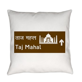 Taj Mahal, India Everyday Pillow