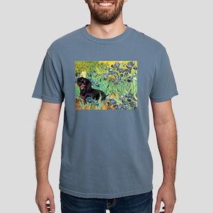 8x10-Irises-Dachs-Blk4 Mens Comfort Colors Shi