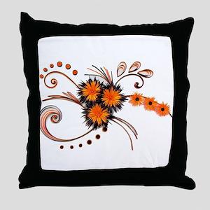 Black is Orange - White edition Throw Pillow