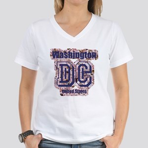 Washington DC Women's V-Neck T-Shirt
