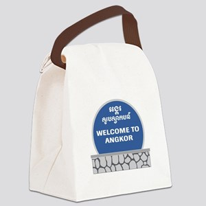 Welcome to Angkor Wat, Cambodia Canvas Lunch Bag