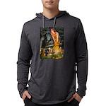 5.5x7.5-MidEve-DachsPAIR Mens Hooded Shirt