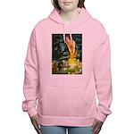 5.5x7.5-MidEve-DachsPAIR Women's Hooded Sweats