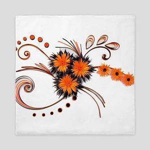 Black is Orange - White edition Queen Duvet