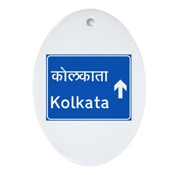 Calcutta (Kolkata), India Oval Ornament