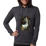 57-Oph2-Dachs-blk2 Womens Hooded Shirt