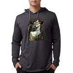 57-Oph2-Dachs-blk2 Mens Hooded Shirt