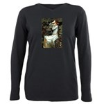 57-Oph2-Dachs-blk2 Plus Size Long Sleeve Tee