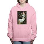 57-Oph2-Dachs-blk2 Women's Hooded Sweatshirt