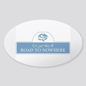 Road to Nowhere, Canada Sticker (Oval)