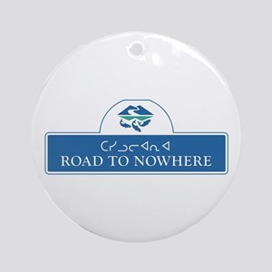 Road to Nowhere, Canada Round Ornament