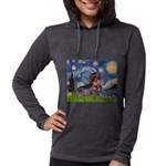 MP--Starry-WDachs2 Womens Hooded Shirt