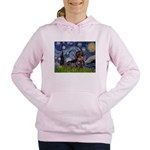 MP--Starry-WDachs2 Women's Hooded Sweatshirt