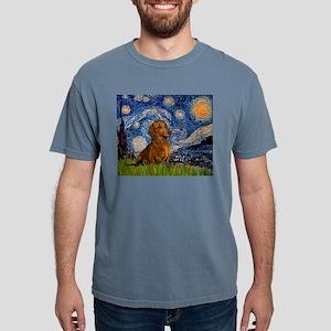 MP-Starry-Dachs-Brwn1 Mens Comfort Colors Shir
