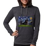 5.5x7.5Starry-Dachs16 Womens Hooded Shirt