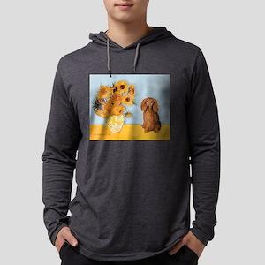 MP-SUNFLWRS-LHDAchs-Sable Mens Hooded Shirt