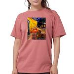 MP-Cafe-Dachs-Brwn1 Womens Comfort Colors Shir
