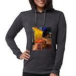 MP-Cafe-Dachs-Brwn1 Womens Hooded Shirt