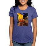 MP-Cafe-Dachs-Brwn1 Womens Tri-blend T-Shirt