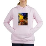 MP-Cafe-Dachs-Brwn1 Women's Hooded Sweatshirt