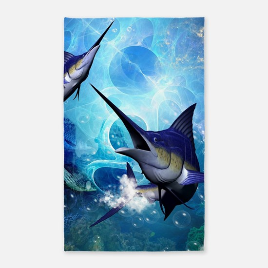 Awesome marlin Area Rug