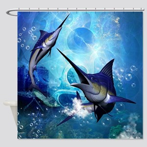 Awesome marlin Shower Curtain
