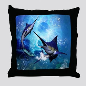 Awesome marlin Throw Pillow