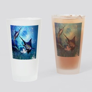 Awesome marlin Drinking Glass