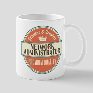network administrator vintage logo Mug