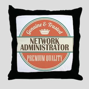 network administrator vintage logo Throw Pillow