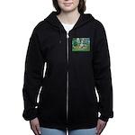 Dalmatian 1 - Bridge Women's Zip Hoodie