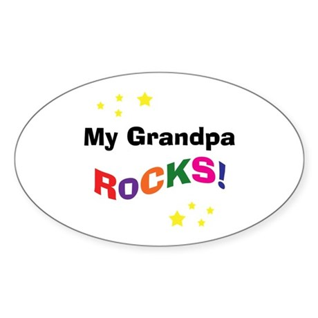 My Grandpa Rocks! Oval Sticker