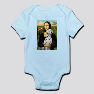 Dalmatian 1 - Mona Lisa.png Baby Light Bodysuit