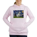 5.5x7.5-Starry-Dalmatian3 Women's Hooded Sweat