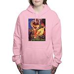 MP-ANGEL3-Dobie-Red-8sit Women's Hooded Sweats