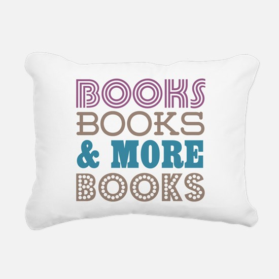 Books and Books Rectangular Canvas Pillow