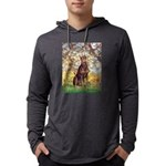 ORN-OVAL-SPRING2-DobieRed8 Mens Hooded Shirt