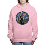 8x10-Starry-Dobie1 Women's Hooded Sweatshirt