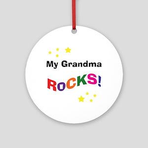 My Grandma Rocks! Ornament (Round)