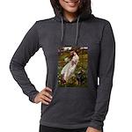 WINDFLOWERS-Dobie1 Womens Hooded Shirt