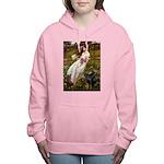 WINDFLOWERS-Dobie1 Women's Hooded Sweatshirt