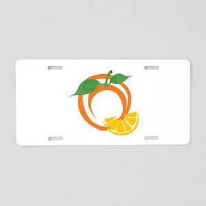 Orange Slices Aluminum License Plate