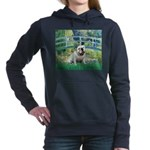 MP-BRIDGE-EBD-White9 Women's Hooded Sweatshirt