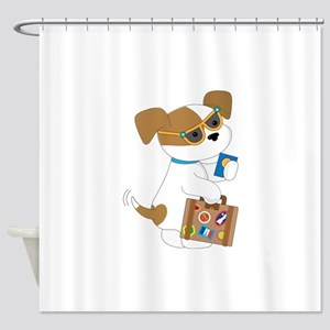 Cute Puppy Travel Shower Curtain