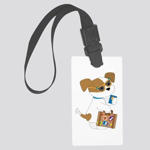 Cute Puppy Travel Large Luggage Tag